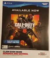 Call of Duty Black Ops 4 Promo Gamestop Poster. Rare.