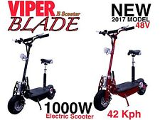Electric Scooter 1000W 48V Viper Blade New 2016 Model, Terrain Tyres, 42KPH.