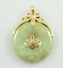Jade and 14k Yellow Gold Pendant