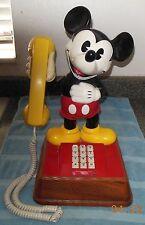 Vintage 1976 Mickey Mouse Phone Push Button Telephone Disney American Telecom