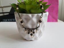 Burnished Vintage Necklace Topshop Cream Pearl