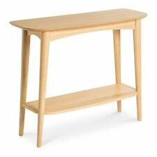 INGRID RETRO SCANDINAVIAN WOODEN OAK CONSOLE / HALL TABLE WITH SHELF