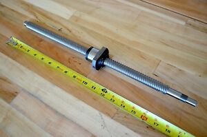 New THK WTF2040-2 x488mm Precision Rolled Ballscrew 20mm dia. with Machined Ends