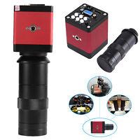 14MP HDMI VGA HD Industry 60F/S Video Microscope Camera with Remote Control Tool