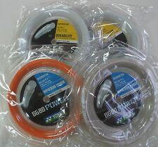 4 Coils YONEX 200 m Badminton Strings - 2 x BG80 Power (Wht, Orange) & 2 x BG65