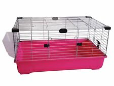 Heritage Fuschia Rabbit 100cm Large Indoor Cage Kit Guinea Pig Rodent Hutch Home