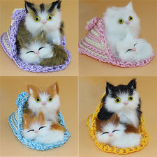 Mother Cat and Kitten Plush Dolls Simulation Animal Affection Toy Kids Gift