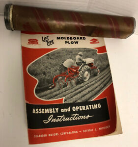 Dearborn 1947 Ford Tractor MOLDBOARD PLOW Manual Assembly Operating VGC