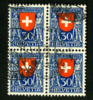 Switzerland Stamps # 32 VF Used Block of 4