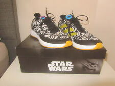 VGC IN BOX STAR WARS K ADIDAS BLACK & WHITE RUNNING TRAINERS SIZE UK 4.5 BY3026
