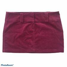 Guess Jeans Purple Velvet Mini Skirt Size 32 NWT