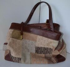 Vintage Fossil Leather Patchwork Tan Brown Purse Nearly new