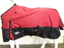 AXIOM 1800D  WATERPROOF RED CHECK/BLACK LIGHT (NO FILL) BLACK FLEECE RUG - 6' 0