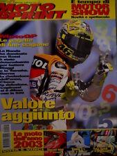 Motosprint 49 2002 Motor Show: novità e spettacolo. MotoGP pagelle fine stagione