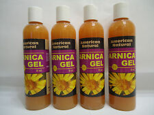 4 bottles ARNICA MONTANA GEL CREAM 8 Oz PAIN RELIEF BRUISES MUSCLE ACHES NATURAL