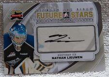 Buffalo Sabres Nathan Lieuwen Signed 11/12 ITG BTP Future Stars Card Auto