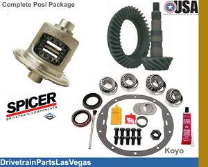 Dana 44 30 Spline Trac Lock Posi Package Gear Set 5.13 Ratio Rebuild Kit NEW