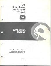 John Deere 246 Rotary Broom 650 750 Operator's Manual