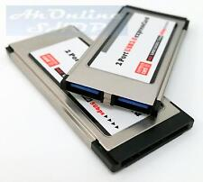 34mm USB 3.0 PCMCIA Express Card Karte 2 Port expressCard Hub Laptop Notebook
