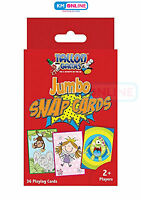 JUMBO SNAP PLAYING CARDS GAMES CHILDREN KIDS TOYS ACTIVITY 36 CARDS FUN NEW 7017