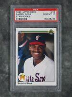 PSA 10 Gem Mint Sammy Sosa 1990 Upper Deck #17 Star Rookie Graded Baseball Card