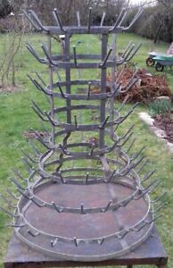 FRENCH ANTIQUE BOTTLE DRYING RACK