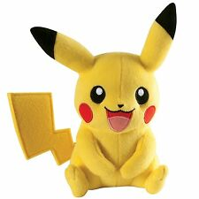 "TOMY PIKACHU POKEMON  8"" PLUSH SOFT CUDDLY TOY OFFICIAL LICENSED  NEW"