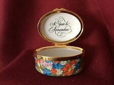 "Halcyon Days ""A Year To Remember� 2004 Enamel Box Mint Condition"