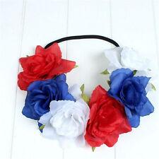 1pc Rose Flower Headband Hair Crown Festival Boho Garland Elastic Hairband