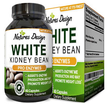 Carb Blocker/Natural Starch Diffuser Pure White Kidney Bean Extract Weight Loss