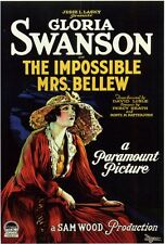 THE IMPOSSIBLE MRS. BELLEW Movie POSTER 27x40 Gloria Swanson Robert Cain Conrad