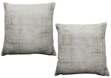Ex-Chainstore Pack of 2 Woven Design Metallic Grey Cushion Covers