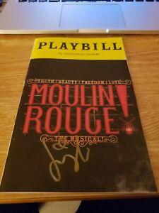 Signed Moulin Rouge Playbill