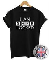 """Sherlock Holmes """" i Am Sherlocked """" T-SHIRT S-XXL Uomo Donna"""