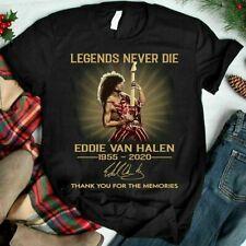Eddie Van Halen 1955-2020 Legends Never Die Unisex T-shirt Freeshipping