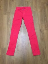 Ladies J Brand Skinny Fit Lipstick Red Jeans Size 6 W24 L29.5