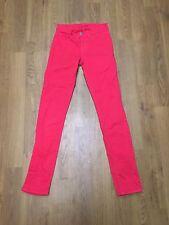 Ladies J Brand Skinny Fit Lipstick Red Jeans Size 6 W24 L29.5