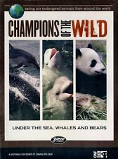 NEW 3 DVD SET-  CHAMPIONS of the WILD - UNDER SEA + WHALES + BEARS -