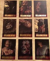 2011 Cryptozoic WALKING DEAD (9) trading card CHASE SET - FOIL WO1-WO9 Season 1
