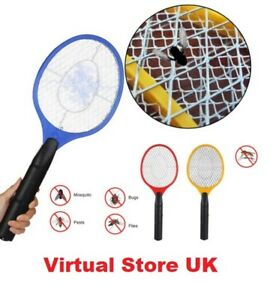 1x Bug Zapper Racket Electronic Wasp Fly Swatter Electric Insects Handheld Bat