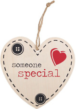 Someone Special Heart Wooden Hanging Sign Wall Plaque Shabby Chic Gift Homeware