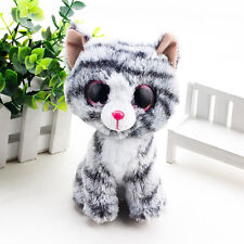 New Glider Glamour Pink  Big Eyes Stuffed Animals Plush Toys Dolls Gray Cat TY
