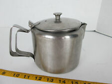 Stainless Steel Pot 4 Cup Flip Lid Hot/Cold Water Ice Tea Coffee Table Heavy T