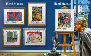 Niger 2015 MNH Henri Matisse 4v M/S + 1v S/S Art Paintings Stamps
