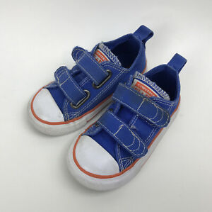 CONVERSE ALL STAR Toddler Blue Sneakers EASY ON/OFF Size 6