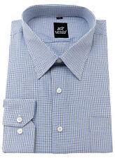 Men's BIG size 100% Cotton Shirt Regular Collar Check Formal Casual Long Sleeve