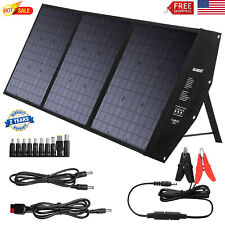120W Foldable Solar Panel Kit 12V Off Grid Battery Charger Caravan RV Camping US