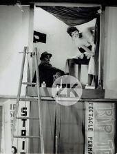 UNE FEMME EST UNE FEMME Anna KARINA Micro JLG GODARD Tournage Photo 1961