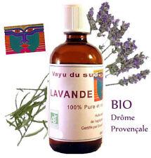 Huile Essentielle BIO de LAVANDE - 100 ml - Compte Gouttes - Drôme Provençale