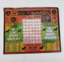 In The DogHouse 1943 Vintage Gambling Money Seal UNUSED Board Trade Stimulator